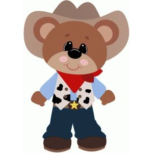 Silhouette Design Store: cowboy bear halloween costume