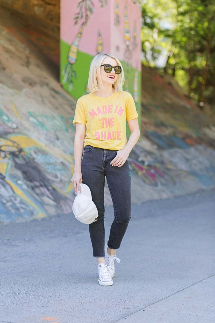 Yellow Graphic Shirt - Made In The Shade - Poor Little It Girl