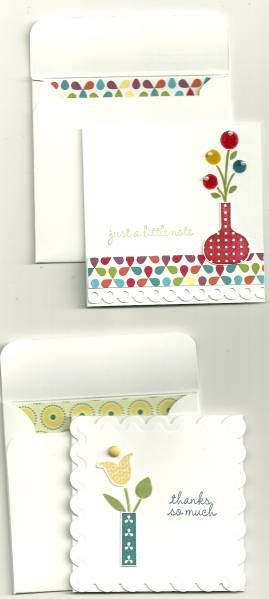 little note, thanks so much: Cards Random, Cards Notes 3X3, Cards Sets, Cards Ideas, Matching Cards, Craftiness Cards, Cards 3X3, Cards Create, Cards Envelopes Paper