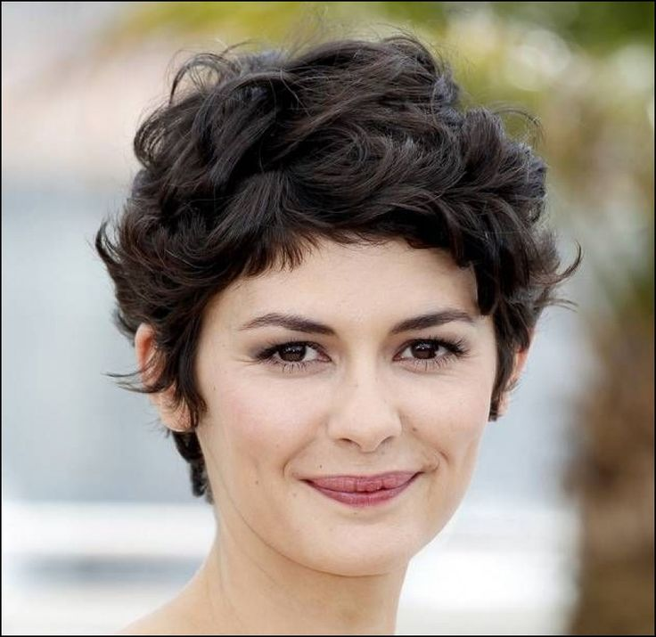 Short Hairstyles for Thick Curly Hair Round Face