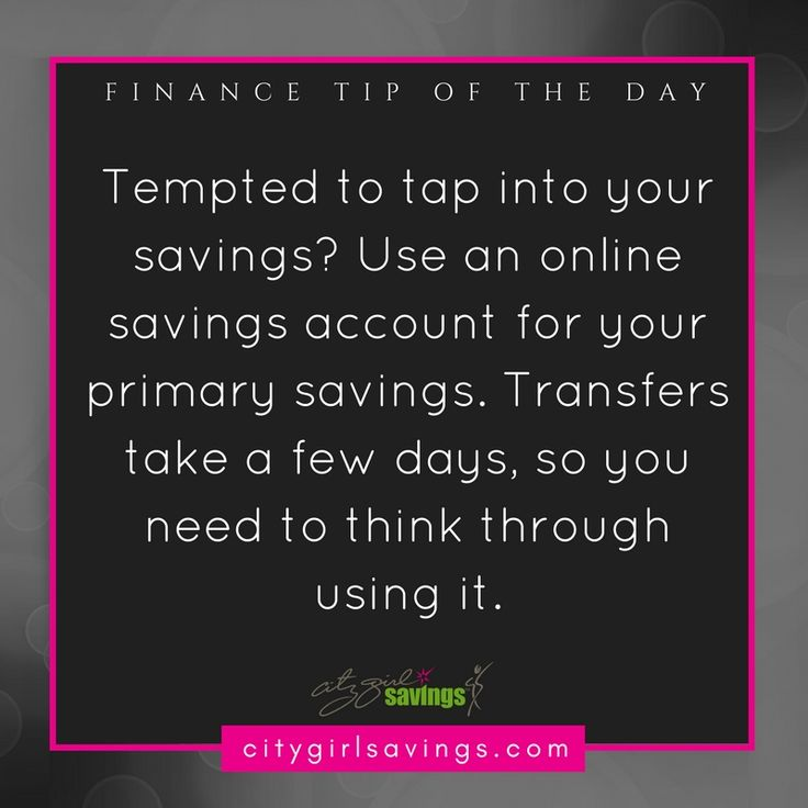 Another perk (outside of the great interest rates) of online savings accounts is the inaccessibility. Since the purpose of savings is not to touch it, transferring money from your online savings account isn't as easy as with a normal savings. This can help you avoid the temptation of touching your savings.