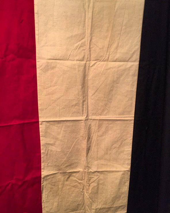 """Original German Empire National Flag - World War 1 (1871-1918)   Given its size (44"""" x 68"""") I would say this was either used on a building of significant importance or on a large ship.   Canvas & Cotton **Looking for a WW1 Imperial War Flag!**"""