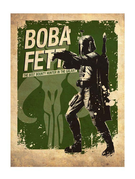 Star Wars vintage silhouette poster