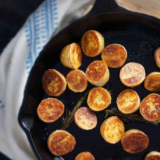 ... method for unbelievably creamy roasted potatoes with garlic & rosemary