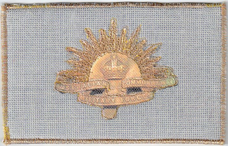 Rising Sun Hat Badge, Australian Commonwealth Military Forces by Leila Craig