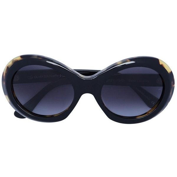 Oliver Goldsmith 'Audrey' sunglasses ($405) ❤ liked on Polyvore featuring accessories, eyewear, sunglasses, blue, acetate sunglasses, acetate glasses, oliver goldsmith eyewear, oliver goldsmith and blue glasses