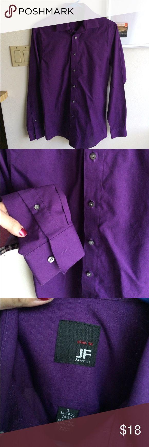 Purple dress shirt Like new. Slim fit. Beautiful purple. jf j.ferrar Shirts Dress Shirts