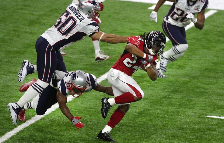 Devonta Freeman scored Super Bowl LI's first touchdown, a 5-yard run in the second quarter.