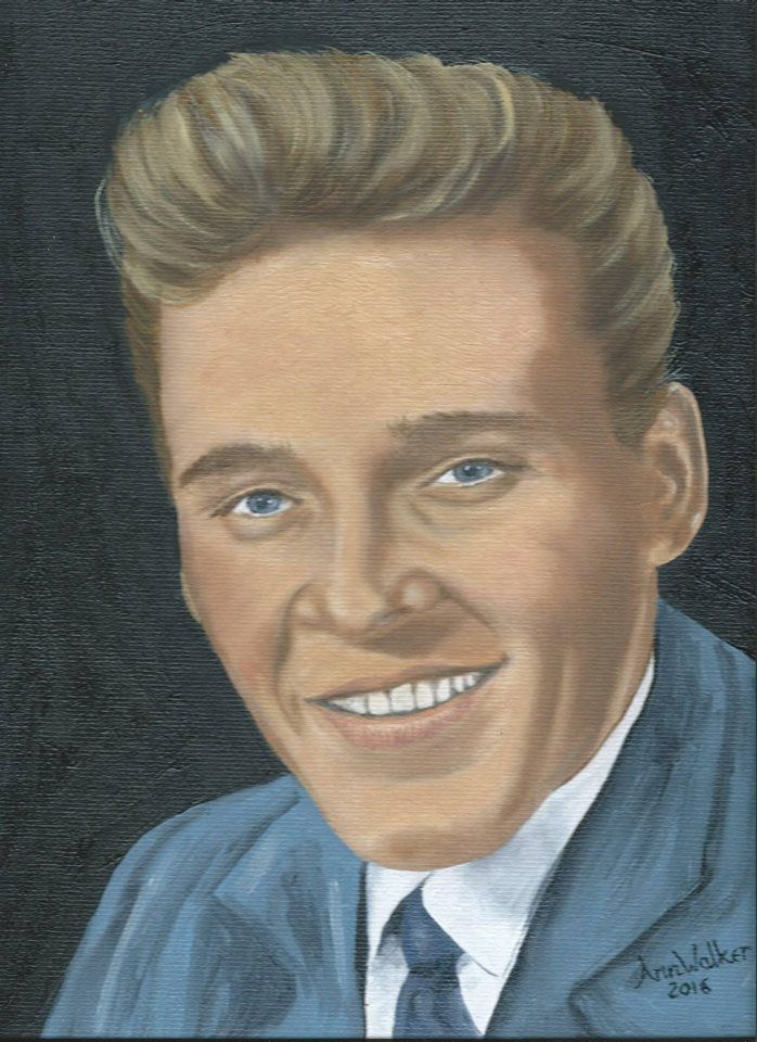Billy Fury oil painting by Ann Walker - May 2016