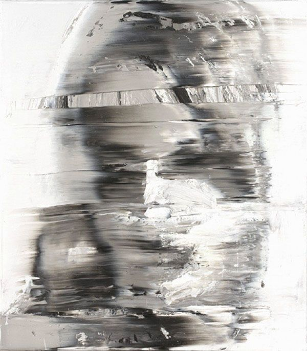 """Label reads: Andy Denzler, Distorted Face I, 2009 #experimentsinmotion.  It reminds me of that moment when she told Phil, """"I never said world...I said place...""""   Still gives me chills."""