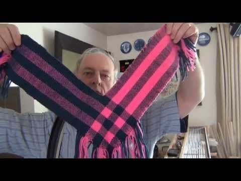 Double Weave L Shawl - part 1 - Loom Setup - YouTube