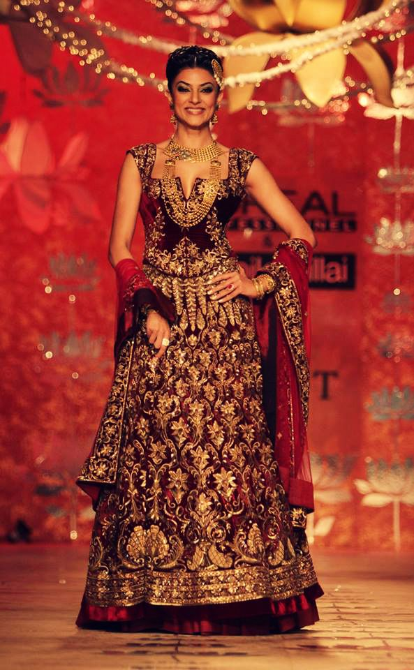 Sushmita Sen in a bridal anarkali