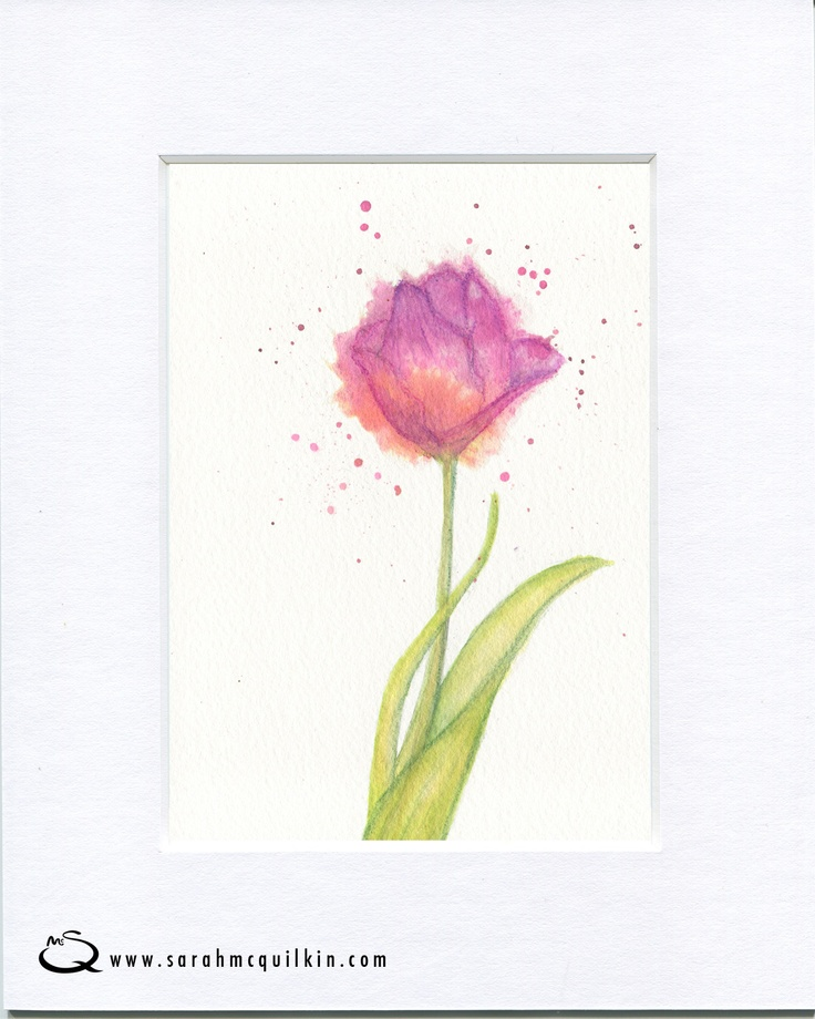 Sarah McQuilkin Illustration - Mother's Day flower tulip