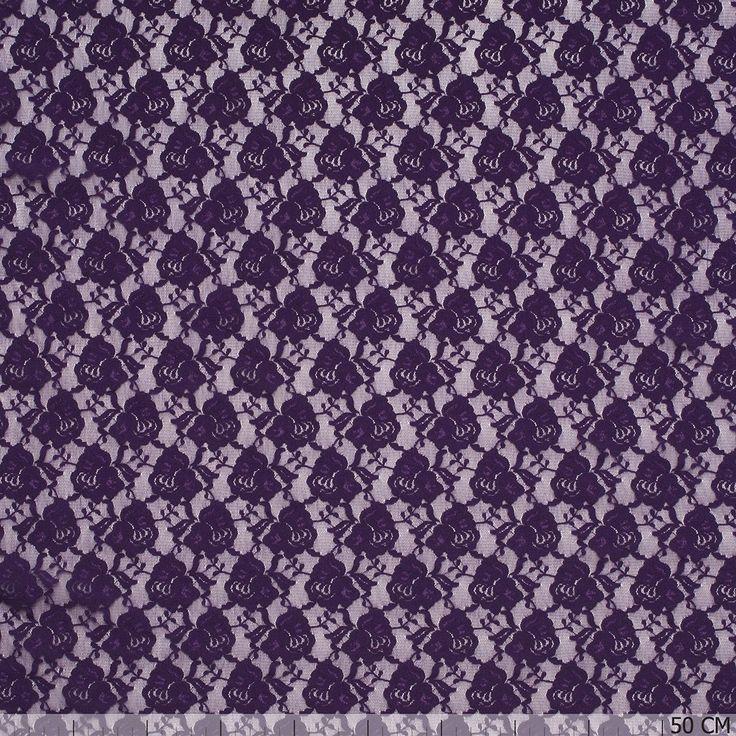 De mooiste stretch kant donker paars stoffen vind je bij Textielstad.nl. ✓ Snelle levering ✓ Beste prijs ✓ Betrouwbaar ✓ A-merken.