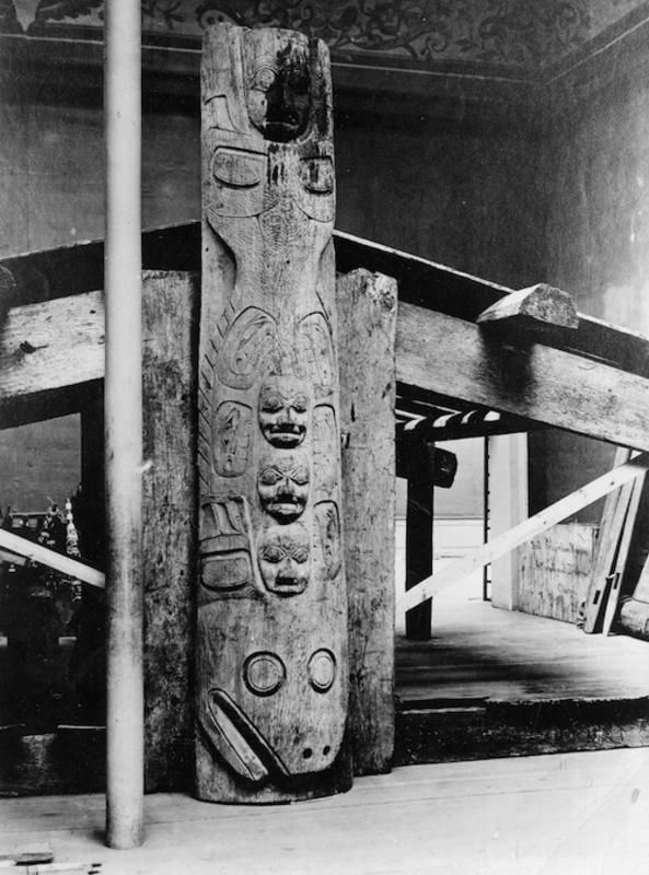 Detail of the halibut frontal pole from a mortuary house.