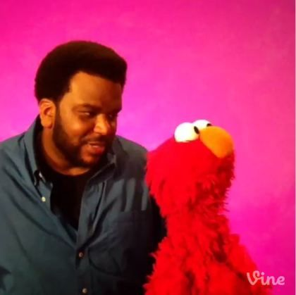 """WATCH: Will Craig Robinson Get Elmo to """"Do it for the Vine?"""" I LOVE THIS"""