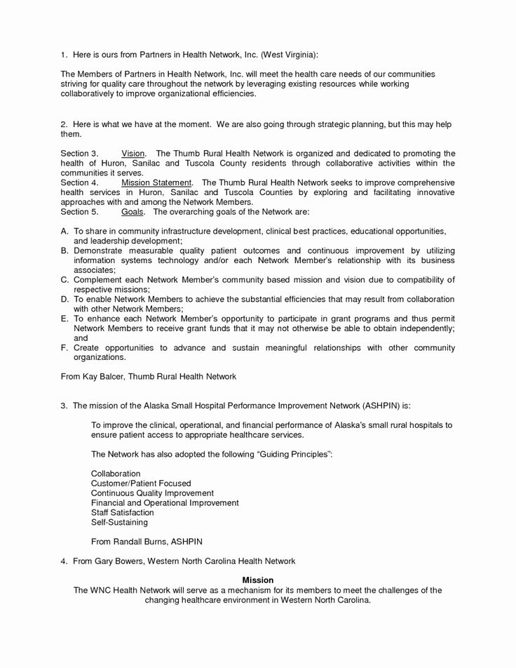 non profit mission statement template best of how to write