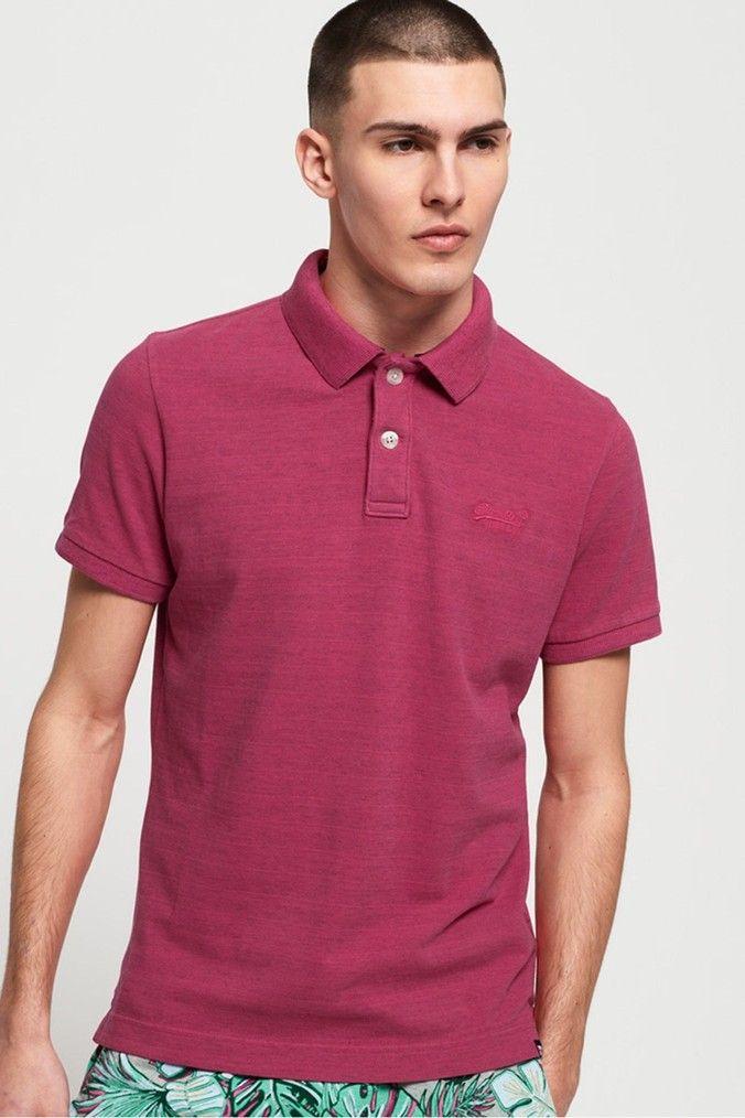 Superdry Mens /'Vintage Destroyed/' Polo T-Shirt