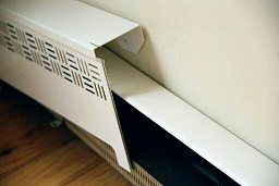installation of baseboard heater covers