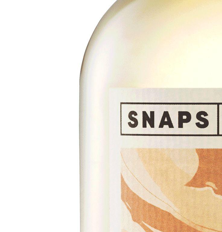 Label design for the Danish company Snaps Bornholm.