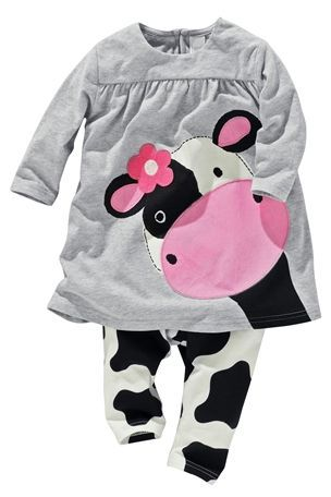 Cow Tunic And Leggings Set (0-18mths) (NEXT USA)