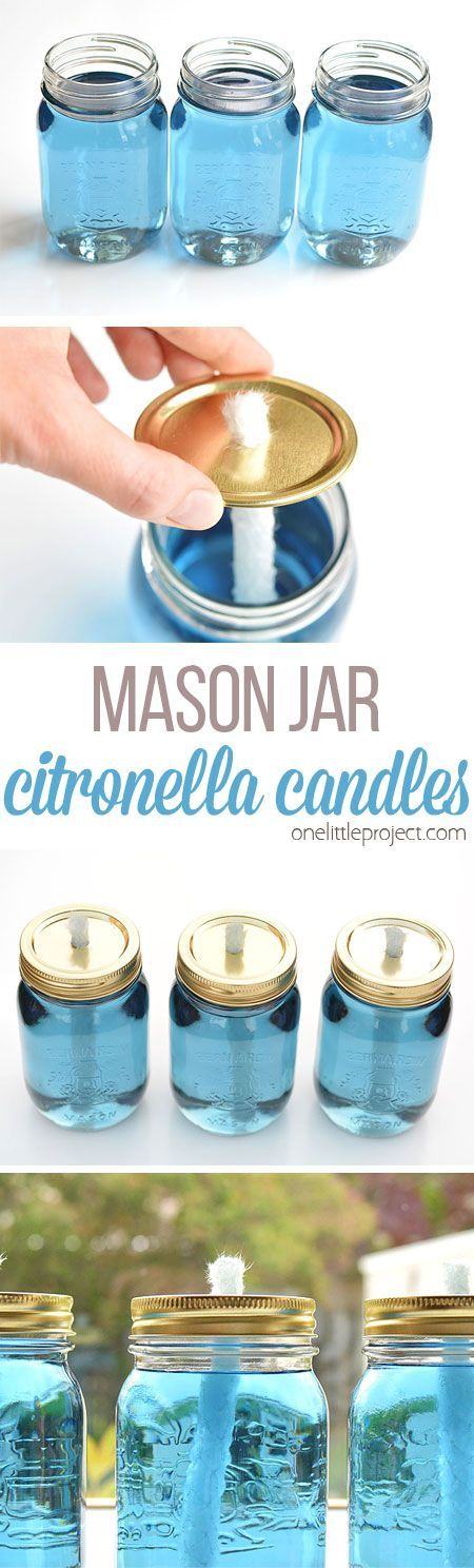 How To Make Citronella Mosquito Jars