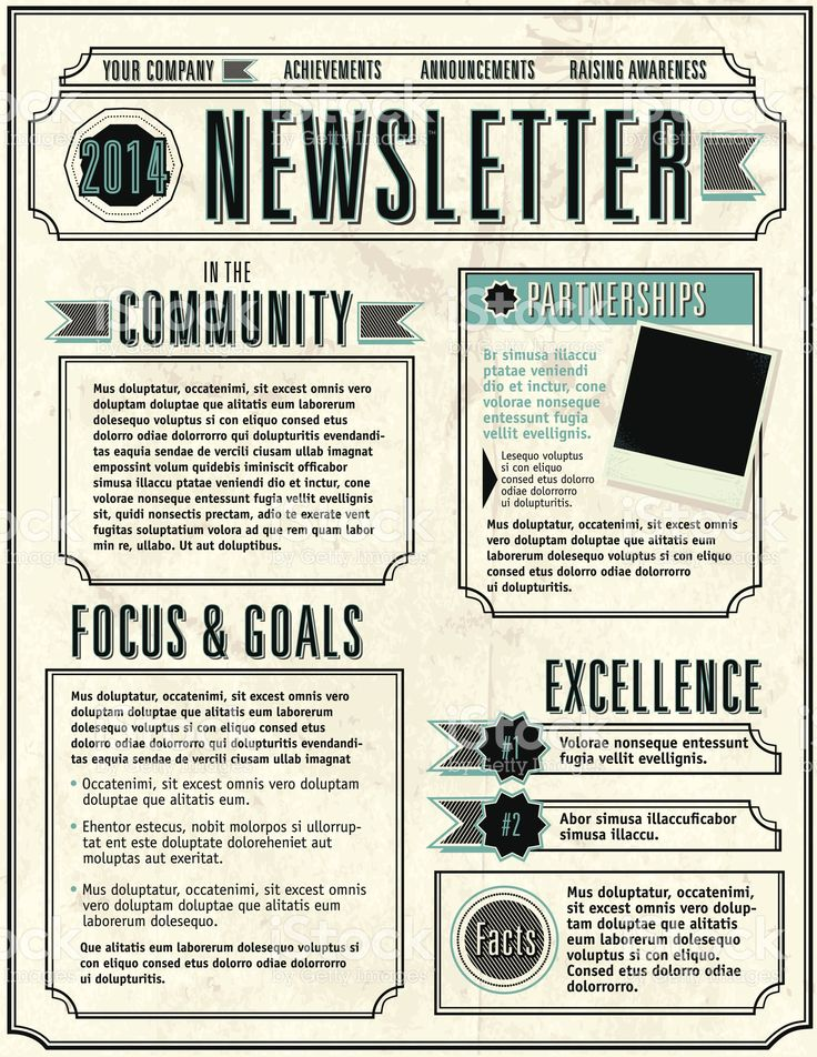 The  Best Newsletter Template Free Ideas On