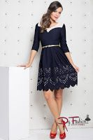rochie-office-Creative Dark Blue