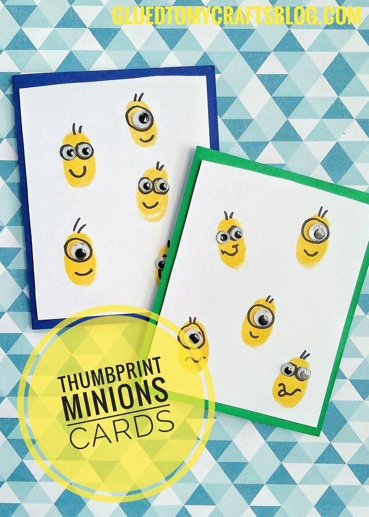 Thumbprint Minions Card - Kid Craft