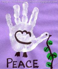 Handprint Dove - Peace Day, MLK Day