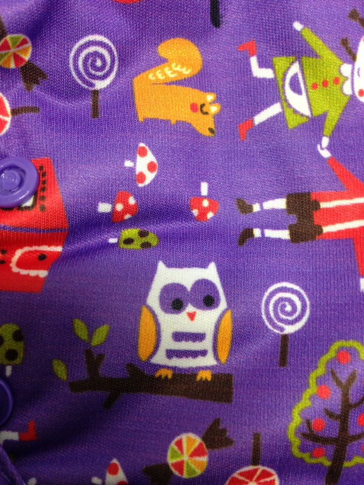 Owl detail from Hansel and Gretel nappy - Easyfit V3 from Tots Bots
