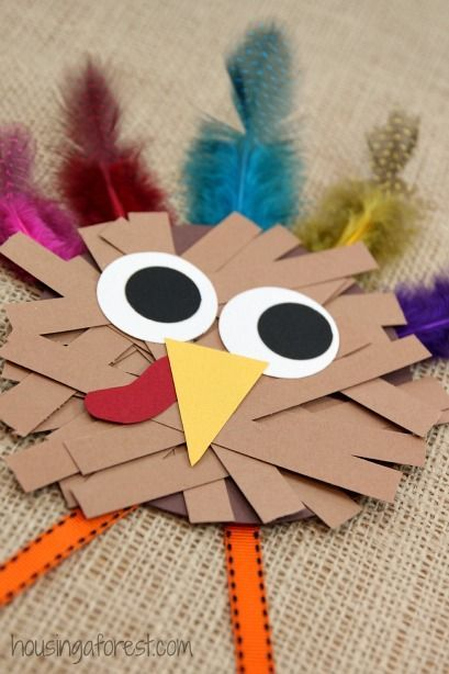 thanksgiving crafts for kids paper strip turkey - Halloween Arts And Crafts For Kids Pinterest