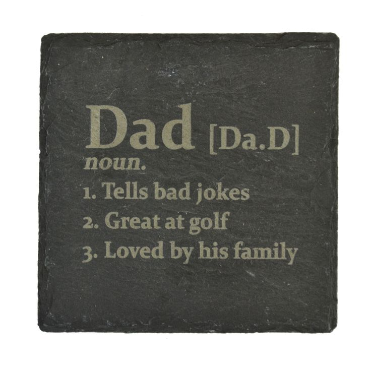 Gift Society   Personalised 'Definition of Dad' Slate Coaster