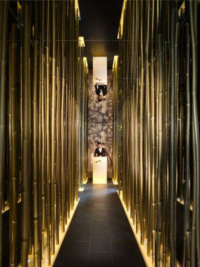 Interior Public Uplight Corridor   HK Japanese Restaurant