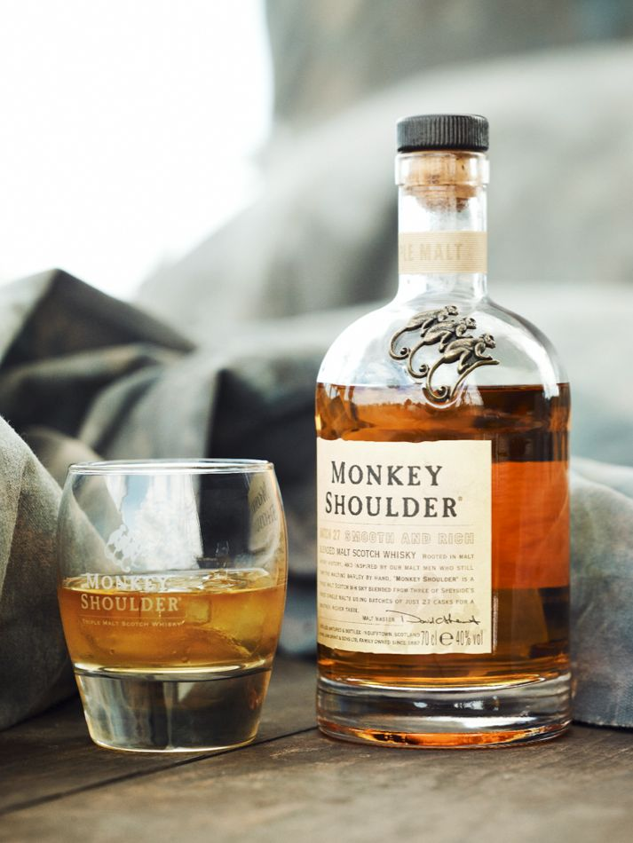 Monkey Shoulder Speyside blended scotch whisky - Glenfiddich, The Balvenie, and Kininvie matured in first fill bourbon casks. Might be worth a try for the cheap price tag, even if only to have as a mixer scotch.