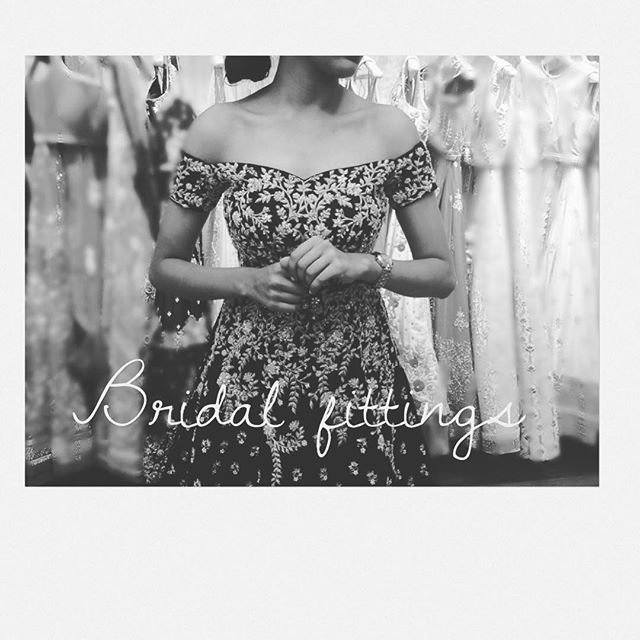 WEBSTA @ chameeandpalak - And she is ready to conquer the world #bridalfittings #chameeandpalakbride #getsetgo #ready #indianwedding #loveourjob #clientdiaries