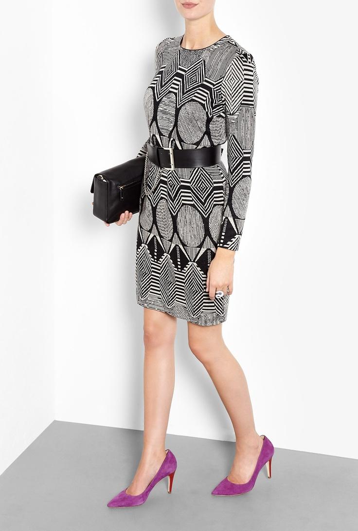 Graphic Jacquard Jersey Dress by MW Matthew Willamson