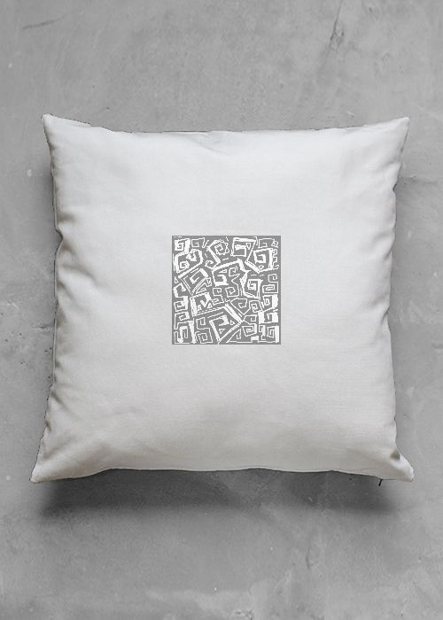 Little ocen - white  pillow case - design by cHarles bridge 7x