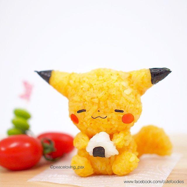 Pikachu's happy time☺️ #pikachu #pokemon#anime #manga #riceballl #onigiri…