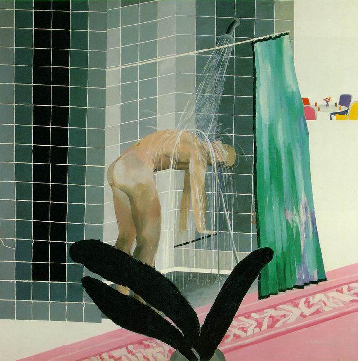 David Hockney. Man in shower in Beverly Hills, 1964. Acrylic on canvas.