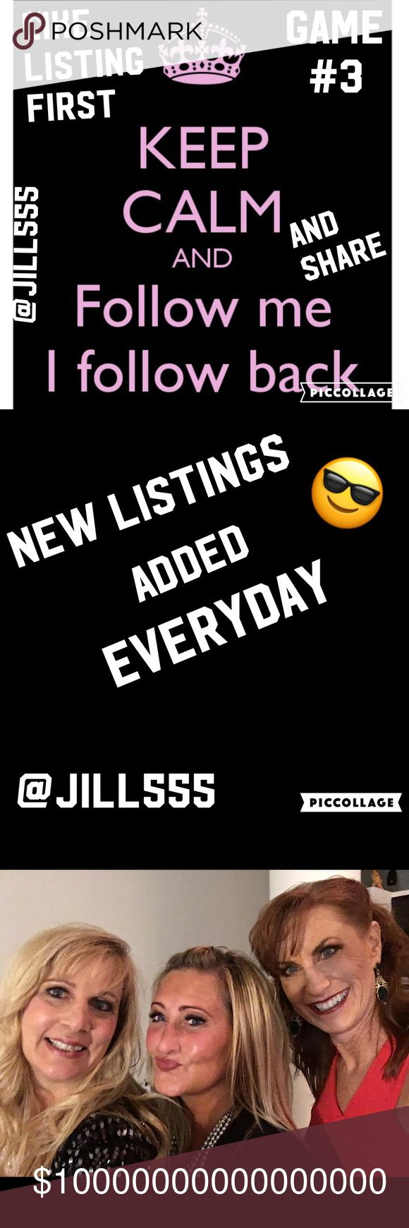 🎈FOLLOW GAME #3🎈LIKE, FOLLOW, SHARE🎈 🎈Like this listing first and follow and then share. Check back often to follow the new people that have joined.  Grow your network! Sharing is caring! 🎈💕👭💕👭 Other