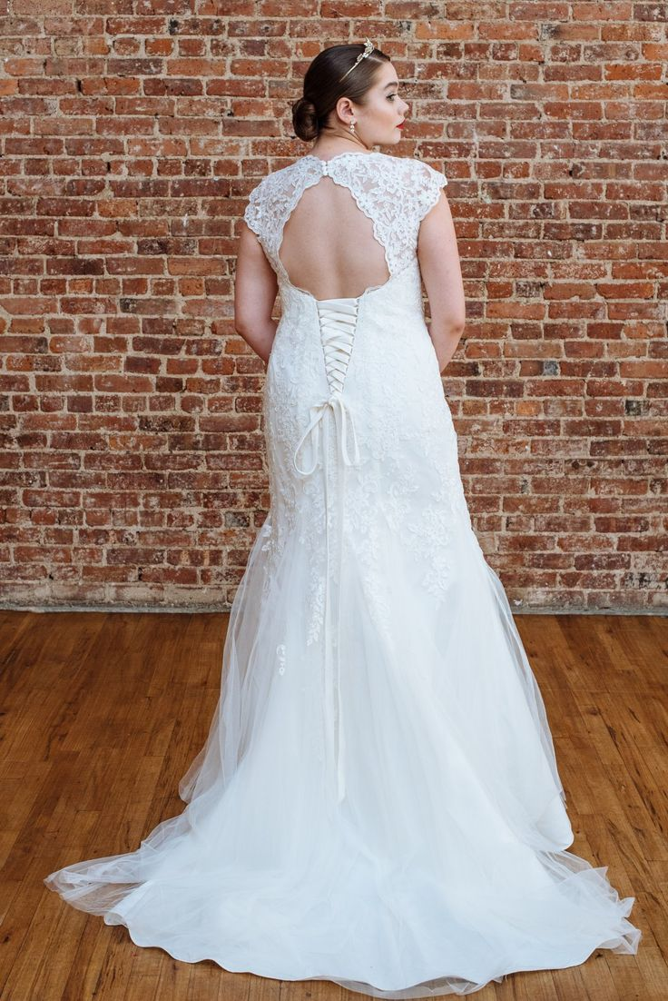 308 best lace wedding dresses accessories and decor images on a lace wedding dress with an open back from davids bridal plus size wedding dresses junglespirit Image collections