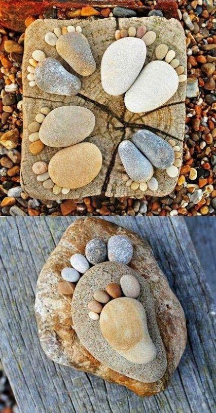 """Compartimos otra idea de decoracion Diy con algo tan simple y economico como son las """" piedras """"."""
