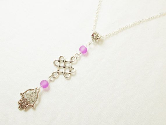 #HandofFatima #celticcross #decorative #jewelry by 10dollarjewellery #purple