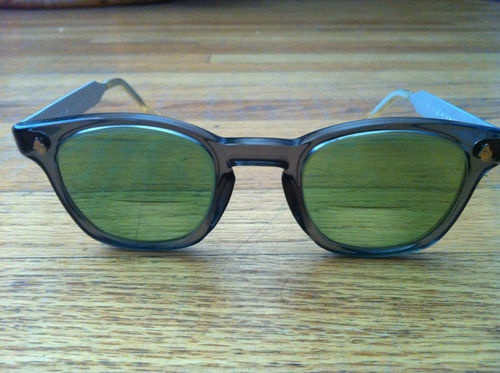 76a03651a4c American optical ao horn rim mid century vintage safety glasses 48  24 z87  mint