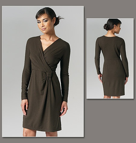 Vogue DKNY Designer Sewing Pattern 1257 Ladies Dress Sizes: 12-14-16-18-20