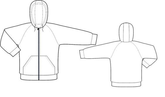 Sweat-Shirt  - Patrons de couture #8005 Les patrons de couture Lekala faits sur mesure a télécharger gratuitement. Pinces