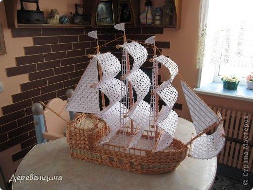 Поделка изделие Плетение Что нам стоит флот построить??? Бумага газетная фото 1