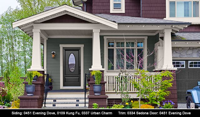 Siding 0451 evening dove 0109 kung fu 0337 urban charm - Popular exterior house colors for 2017 ...