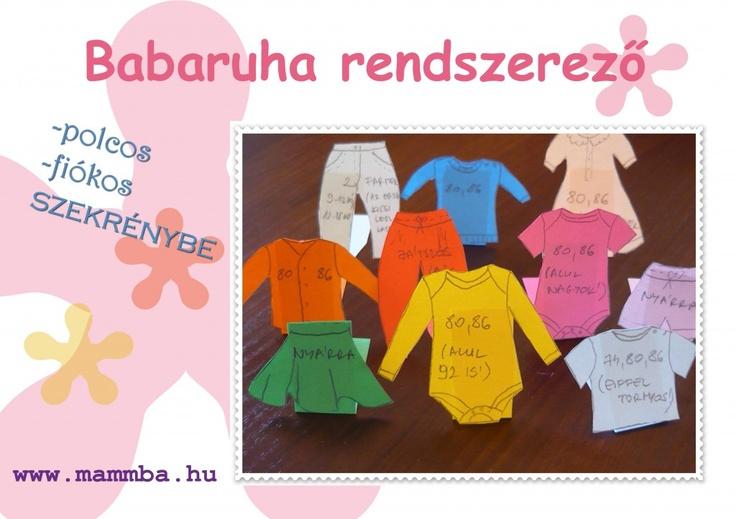 Baby clothes organiser and divider for shelves and wardrobes / Babaruha rendszerező polcos és akasztós szekrénybe (If you need the instructions in English, please contact me: kata@mammba.hu)